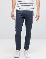 Темно-синие укороченные джинсы скинни ASOS - Синий