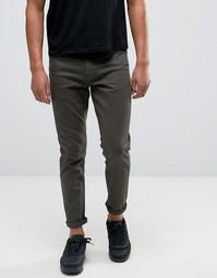 Укороченные джинсы скинни цвета хаки ASOS - Зеленый