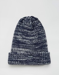 Синяя меланжевая шапка-бини Threadbare - Синий