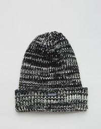 Черная меланжевая шапка-бини Threadbare - Черный