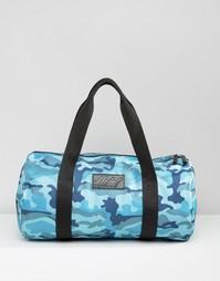 Стеганая сумка с синим камуфляжным принтом Heist - Синий