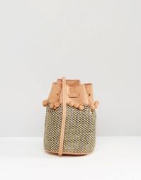 Небольшая сумка через плечо со шнурком Gracie Roberts - Розовый
