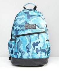 Синий камуфляжный рюкзак с отделкой из искусственной кожи Heist - Синий