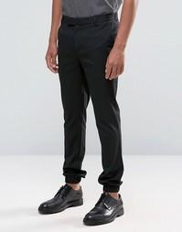 Супероблегающие джоггеры в строгом стиле с карманами ASOS - Черный