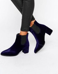 Ботинки челси на каблуке Park Lane Interest Material - Синий