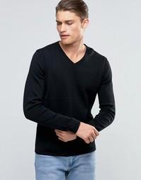 Джемпер с V-образным вырезом Esprit - Черный