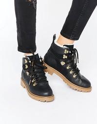 Кожаные походные ботинки TOMS - Черный