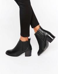 Ботинки челси на каблуке Office Abate - Черный