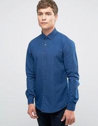 Облегающая рубашка из денима Calvin Klein - Синий
