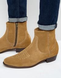 Замшевые ботинки Hudson London Winston - Рыжий