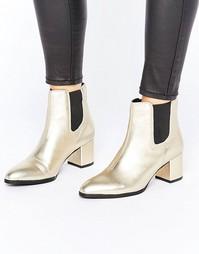 Ботинки челси на каблуке Park Lane Interest Material - Золотой