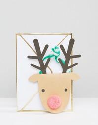 Рождественская открытка с оленем Meri Meri - Мульти
