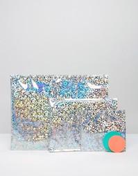 Блестящие серебристые конверты Meri Meri - Мульти