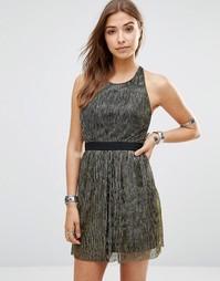 Платье с эффектом металлик Wyldr Pleat Me - Золотой