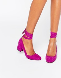 Туфли на каблуке с завязкой вокруг щиколотки London Rebel - Фиолетовый