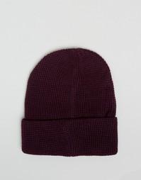 Фиолетовая шапка-бини 7X - Фиолетовый