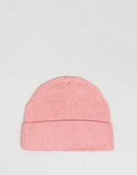 Шапка-бини пыльно-розового цвета 7X - Розовый