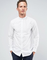Строгая рубашка в стиле ретро с принтом Selected Homme - Белый