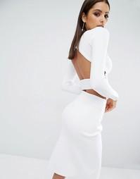 Укороченный лонгслив Kendall + Kylie - Белый