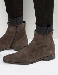 Замшевые ботинки на молнии KG Kurt Geiger Boyce - Серый