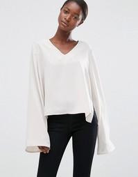 Блузка с расклешенными рукавами Minimum Moves Enny - Бежевый
