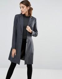 Пальто с воротником и застежкой на 3 пуговицы Closet - Серый