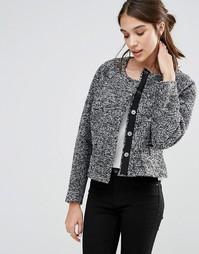 Укороченный пиджак с карманами Closet - Серый