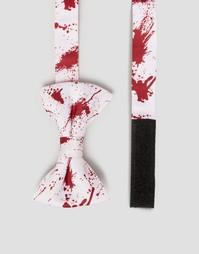 Галстук-бабочка с принтом брызг крови SSDD Halloween - Красный