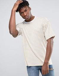 Oversize-футболка в полоску с заниженной линией плеч Other UK - Stone