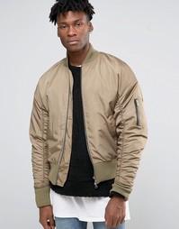 Куртка-пилот в стиле oversize Other UK - Stone