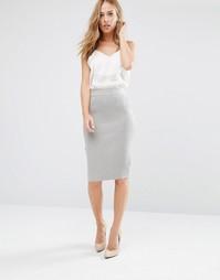 Трикотажная юбка Supertrash Sucre - Серый