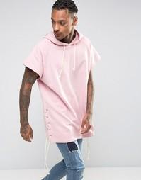 Худи без рукавов со шнуровкой Granted - Розовый