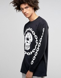 Oversize-лонгслив Long X Mishka Chain - Черный