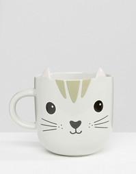 Кружка с дизайном в стиле кошки Sass & Belle - Мульти