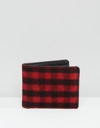 Красно-черный бумажник в клетку Racing Green - Красный
