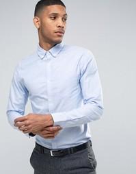 Оксфордская рубашка классического кроя Jack & Jones Premium - Синий