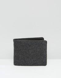 Серый бумажник из мельтона Racing Green - Серый