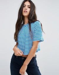 Полосатая футболка Pixie & Diamond - Синий