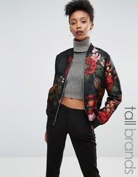 Жаккардовая куртка‑пилот с цветочным принтом Y.A.S Tall - Мульти