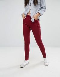 Облегающие джинсы с 5 карманами Boohoo - Красный