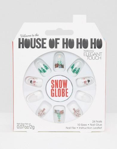 Накладные ногти House Oh Ho Ho Ho от Elegant Touch - Snow Globe - Мульти