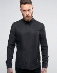 Строгая рубашка из купро Religion - Черный