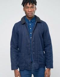 Куртка с подкладкой Borg Bethnals Tommy - Темно-синий