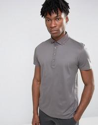 Серое поло из ткани пике Burton Menswear - Серый