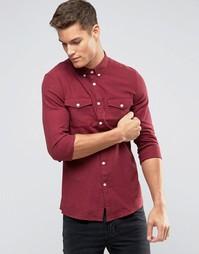 Оксфордская рубашка узкого кроя Burton Menswear - Красный