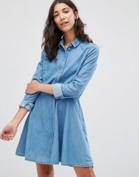 Джинсовое платье-рубашка Pepe Jeans Silvy - Синий