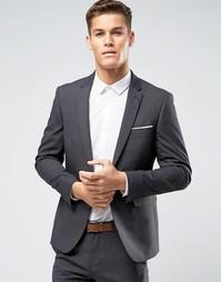 Узкий пиджак Burton Menswear - Серый