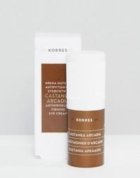 Крем для век против морщин с подтягивающим эффектом Korres Castanea Arcadia 15 мл - Бесцветный