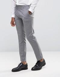 Фактурные брюки узкого кроя Burton Menswear - Серый