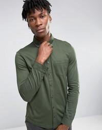 Футболка-поло из пике с длинными рукавами Burton Menswear - Зеленый